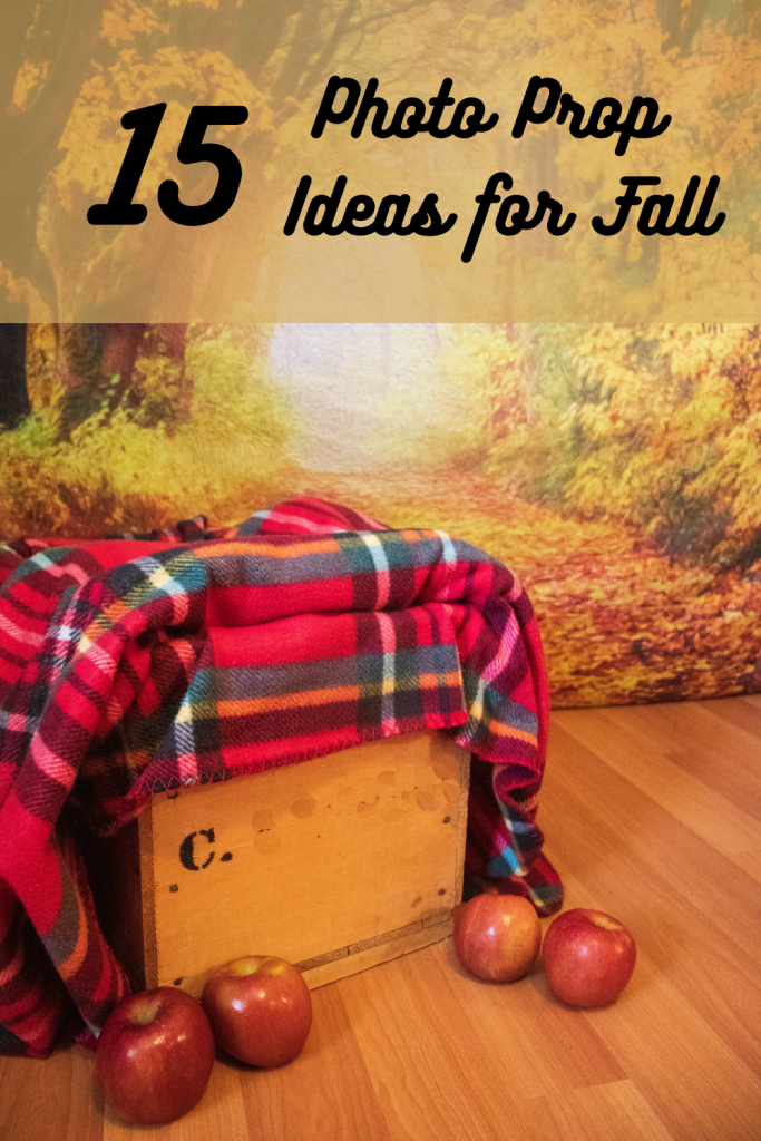 Wooden Crate with blanket and apples for a photo shoot